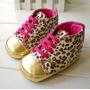 Zapatillas De Bebe Importadas Animal Print Primeros Pasos