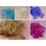 Tecido Organza Cristal 1,40 Largura Varias Cores Promoção