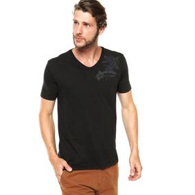 Camiseta Calvin Klein Gola V Preta Original!!!