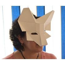 Máscara De Papel En Forma De Lobo