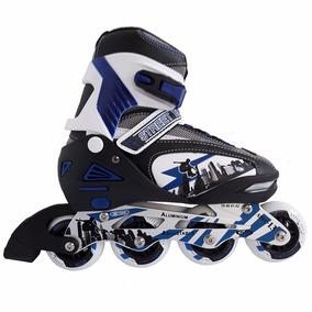 Rollers Profesiol Abec 13 Aluminio Talle 39-42 En Negro/azul