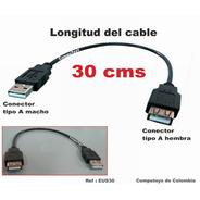 Zeus30 Extension Usb Macho Y Hembra De 30 Cm Computoys