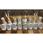Jogo De Xadrez Customizado - Impressão 3d - Sem Tabuleiro