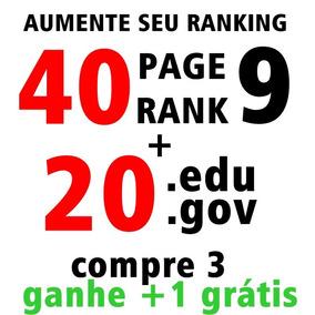 Backlinks Seo 40 Pr9 Da80-100 +20 Edu/gov Backlink Power