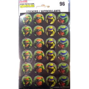 Stickers Calco Autoadhesivos Tortugas Ninja Turtles Rdf1