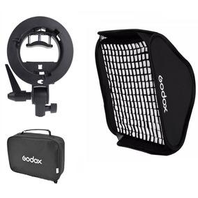 Softbox Speedlight 80x80cm Strobist Com Grid + Tripé