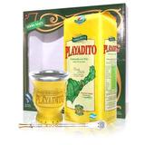 Kit Playadito Caja Yerba 500grs + Mate + Bombilla