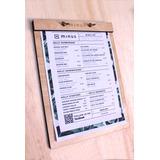 Carta Menú A4 /restaurante/bar/hotel/madera/diseño