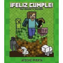 Cartel Feliz Cumple Minecraft