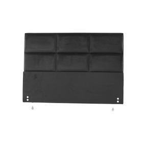 Cabeceira Estofada Para Cama Box Casal 127x142 Veludo Preto