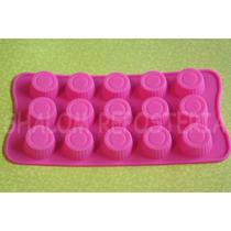 *molde Silicon 15 Mini Capacillos Trufas Chocolate Fondant