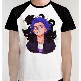Camiseta Raglan + Frete Blusa Camisa Boku No Hero Academia