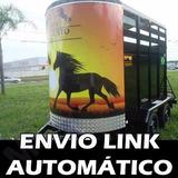 Projeto Carretinha Reboque Para 2 Cavalos E1 Eixo +3 Brindes