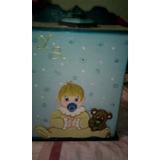 Pañalera De Bebe En Mdf Color Azul