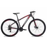 Bicicleta Oggi Hacker Sport Aro 29 21v Preto/vermelho Tam 17