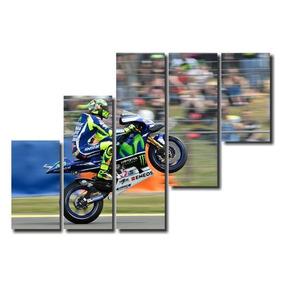 Quadro Decorativo Mosaico 5 Peças Moto Gp Mdf