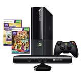Xbox 360 250gb C/ Kinect + Controle S/ Fio + 2 Jogos Origin.