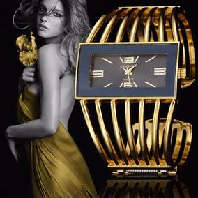 Relógio Bracelete Feminino Dourado - Pronta Entrega