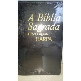 Bíblia Sagrada Com Harpa Letra Hiper Gigante Plus Índice Rc