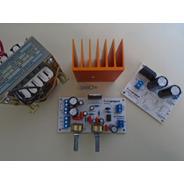 Amplificador 2.1 6+6+20 W Con Fuente Trafo Y Disipador