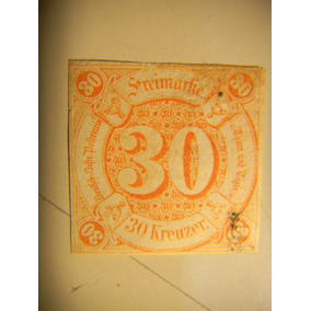 Selo Alemanha - Thurn And Taxis - Colorido - 30 Kr - 1859