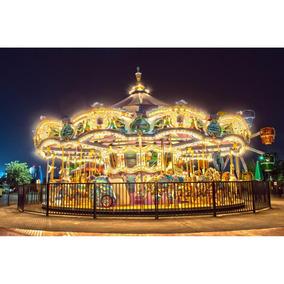 Painel Lona Festa 300x170 Carrossel A Noite