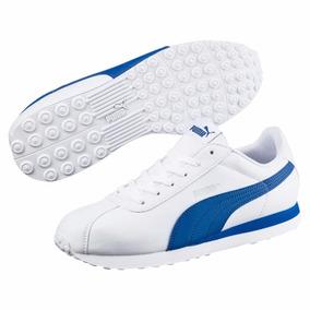 Tenis Puma Turin Casual Blanco Y Azul Caballero