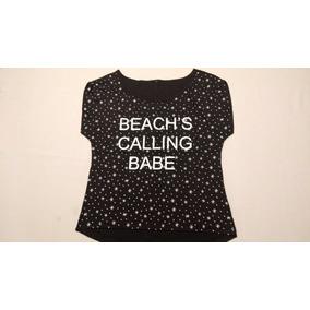 Blusa Preta Beach