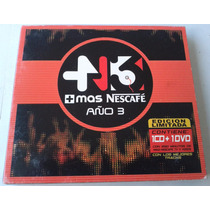 Mas Nescafe Año 3 Cd Y Dvd Digipack 2006 Bvf