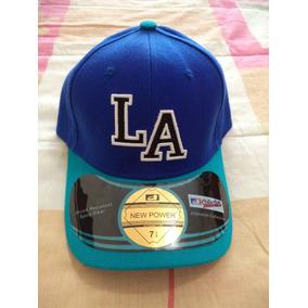 Gorra Gris C Azul Dodgers De La Power 7 1/4 Etiquetada