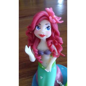 Ariel La Sirenita En Porcelana Fria Para Torta