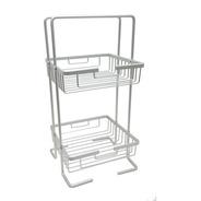 Organizador Repisa De Baño Aluminio Ducha 2 Estantes