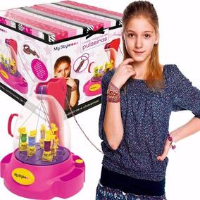 Brinquedo Infantil Maquina De Fabricar Pulseiras Chaveiros