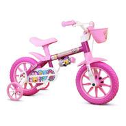 Bicicleta Feminina Infantil Nathor Flower Aro 12 Rosa