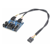 Hub Usb 2.0 Interno 9 Pinos Splitter Para 4 Conexões 25cm