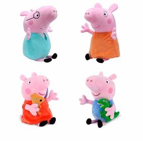 Pep@ Pig E Familia De Pelucia 4 Personagens Pronta Entrega