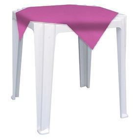 10un Toalha Tnt Mesa Lisa Festas Pink 70x70cm Pacote 05