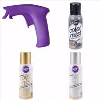 3 Spray Comestible Y Aplicador Wilton, Decoracion Pasteles