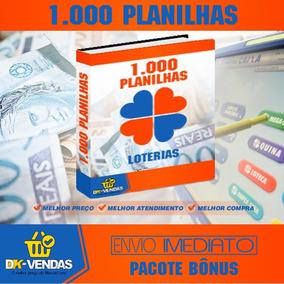 Loterias 1000 Planilhas - Mega, Lotofácil, Quina, Lotomania