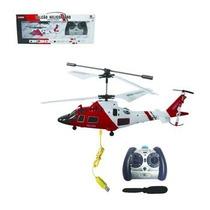 Mini Helicoptero Falcão 3ch Gyro Voa Dentro De Casa Controle
