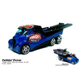 Caminhão De Reboque Cabbin Fever Hot Wheels Com Plataforma