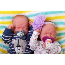 Reborn Bebês Gêmeos Menino E Menina Preemie