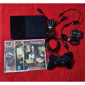 Playstation 2 Slim Completo Com 3 Jogos Funcionando 100%