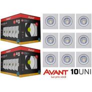Kit 10 Spot 5w Led Direcionável Embutir Gesso Teto