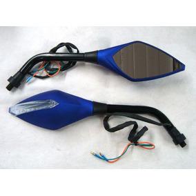 Retrovisor Com Pisca Azul Titan Cb300 Twister Falcon Xre