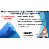 Mat Alfombra Yoga Pilates Colchoneta Camping Playa Ejercicio