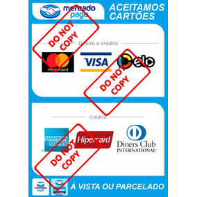 2 Adesivos Cartão De Crédito E Débito Mercado Pago 14x20cm