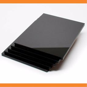 Chapa Placa De Acrílico Preto 4mm - 50 Cm X 100 Cm - 100%