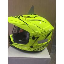 Capacete Asw Dual 2017 Amarelo Fluor (58) Lançamento