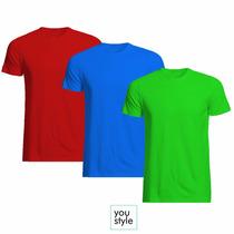 Camisetas Malha Fria P.v. Coloridas Várias Cores Atacado